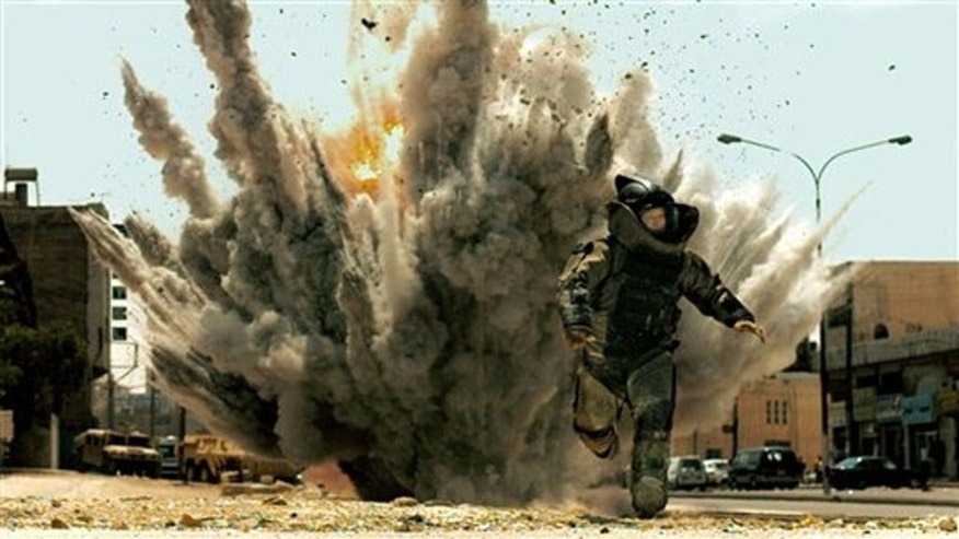 "Oscar-nominated actor Jeremy Renner in a scene from ""The Hurt Locker."""