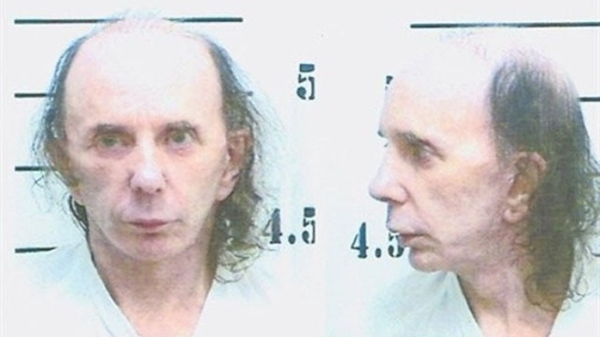 This photo released by the California Department of Corrections and Rehabilitation shows music producer Phil Spector on Friday, June 5, 2009, in prison in Kern County, Calif. Spector is serving a 19-year sentence for the second-degree murder of actress Lana Clarkson.