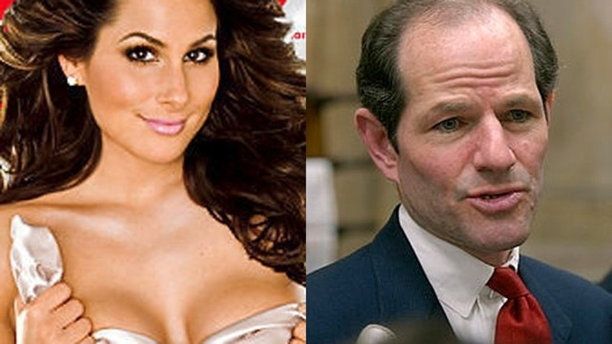 Ashley Dupre and Eliot Spitzer. (Playboy/AP)