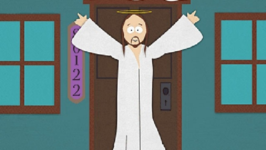 A cartoon depiction of Jesus Christ on Comedy Central cartoon 'South Park.' The network is considering a cartoon on Jesus called 'JC'.