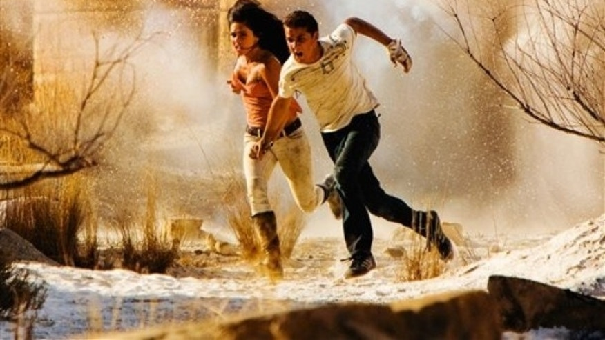 """Megan Fox and Shia LaBeouf in a scene from """"Transformers: Revenge of the Fallen."""" (AP)"""