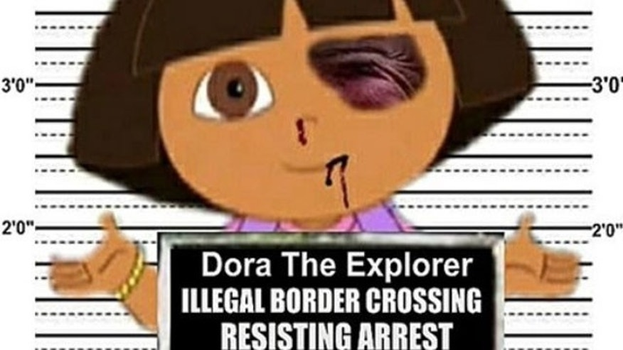 May 20: In this composite image provided courtesy of Debbie Groben and FreakingNews.com, is an image of Nickelodeon cartoon Dora the Explorer created late last year by Debbie Groben of Sarasota, Fla. , for a contest for the fake news site FreakingNews.com.