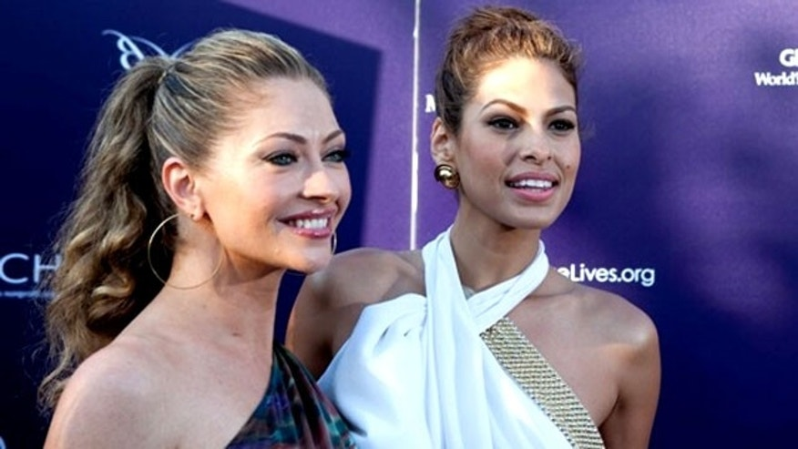 Rebecca Gayheart and Eva Mendes at the 6th Annual Butterfly Ball in Los Angeles on June 5, 2010. (Anna Weber/WireImage)