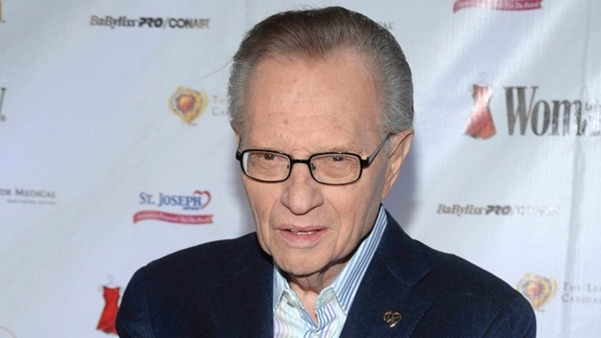 "In this Feb. 11, 2009 file photo, TV Personality Larry King attends the Woman's Day 6th annual ""Red Dress Awards""  benefiting The Larry King Cardiac Foundation in New York."