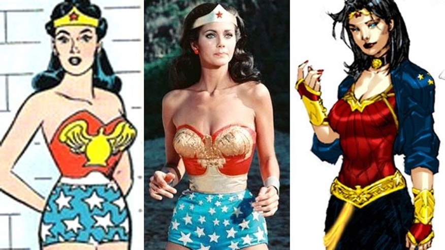 Wonder Woman then and now (r). (DC/ABC/IGN)