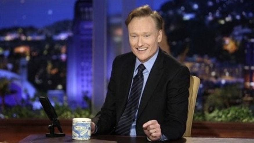 Conan O'Brien in a former NBC photo from his days on their late-night lineup.