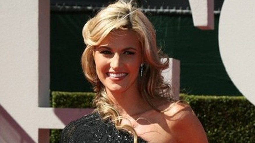 ESPN television sportscaster Erin Andrews arrives at the 2009 ESPY Awards in Los Angeles in this file photograph.