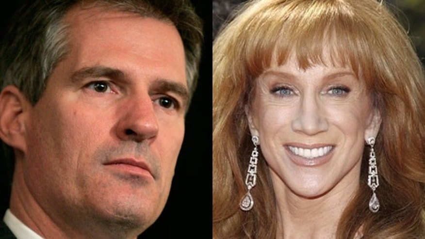 Sen. Scott Brown of Massachusetts is firing back after comedian Kathy Griffin says bad things about his daughter.