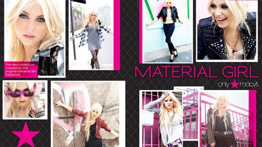 The Material Girl collection will be available exclusively at Macys stores.