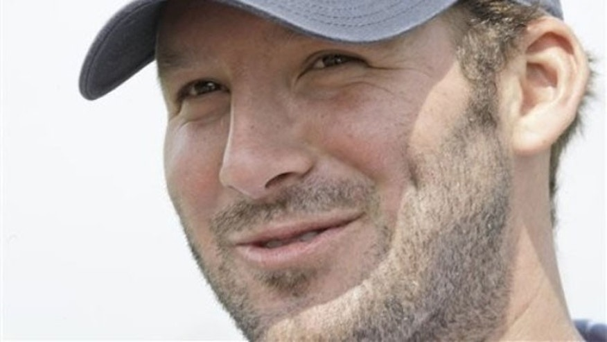 Tony Romo is using his celebrity to celebrate the men and women of the armed services.