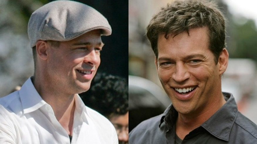 Brad Pitt and Harry Connick, Jr. (Reuters/AP)