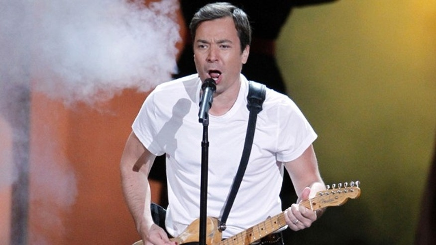 Aug. 29: Jimmy Fallon sings the opening number during the 62nd Primetime Emmy Awards in Los Angeles.