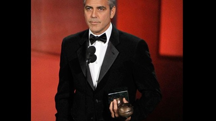 Aug. 29:George Clooney accepts the Bob Hope Humanitarian Award during the 62nd Primetime Emmy Awards.
