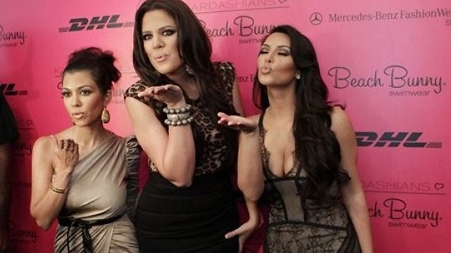 The Kardashian sisters Kourtney, Khloe and Kim.