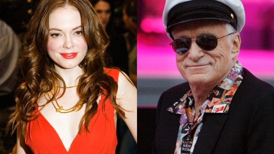 Rose McGowan and Hugh Hefner. (Reuters)
