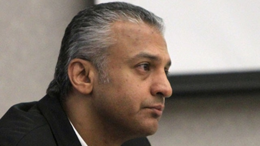 Aug. 30: Actor Shelley Malil listens to opening remarks in a Vista, Calif., courtroom during his trial for allegedly stabbing his ex-girlfriend 23 times at her home near San Diego.