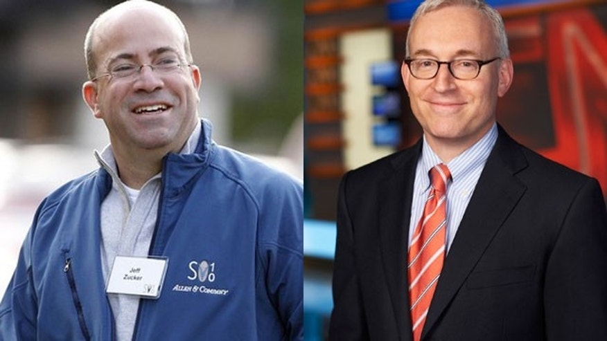 Jeff Zucker of NBC (left) and Jonathan Klein of CNN are both leaving their positions as heads of their respective networks.