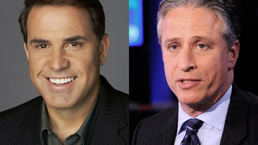 CNN host Rick Sanchez, left, was fired after comments in a radio interview about Comedy Central host Jon Stewart.