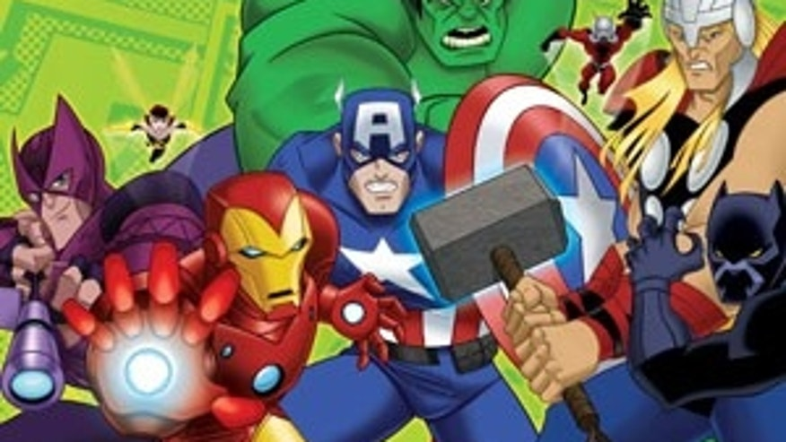 THE AVENGERS  -  (DISNEY XD) HAWKEYE, WASP, IRON MAN, CAPTAIN AMERICA, THE HULK, ANT-MAN, THOR, BLACK PANTHER