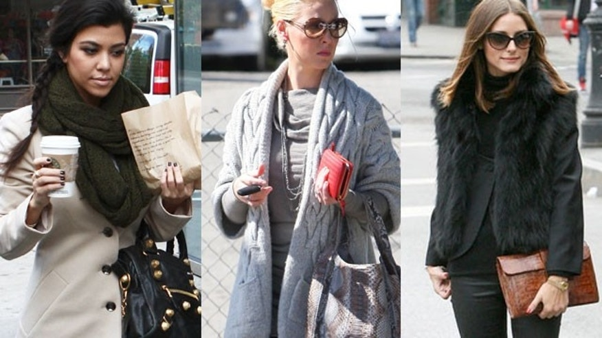 Kourtney Kardashian, Katherine Heigl and Oliva Palermo get the layering look right.