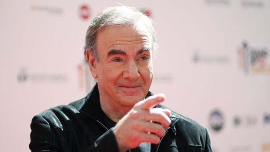 Sept. 2010: Neil Diamond at the Stand Up to Cancer Telethon.