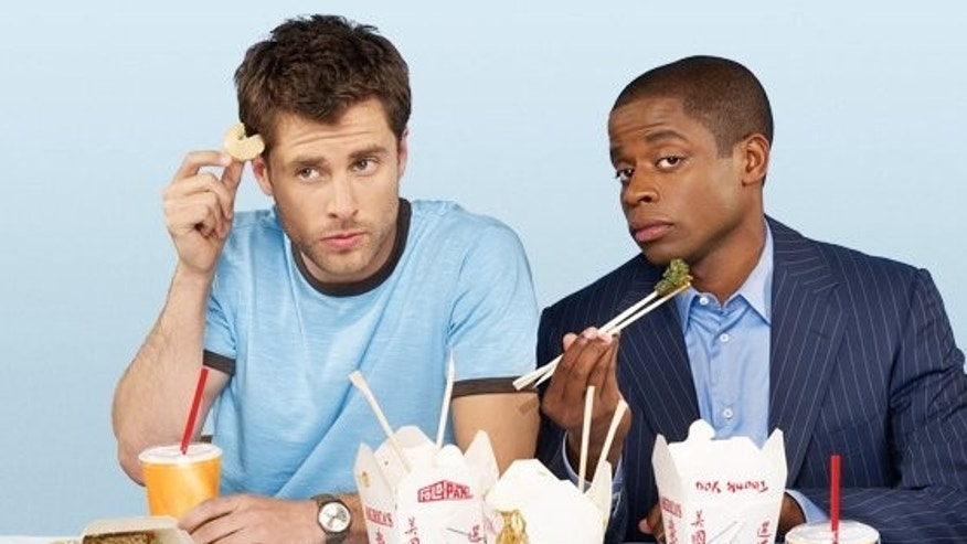 James Roday and Dule Hill in 'Psych.' (USA)
