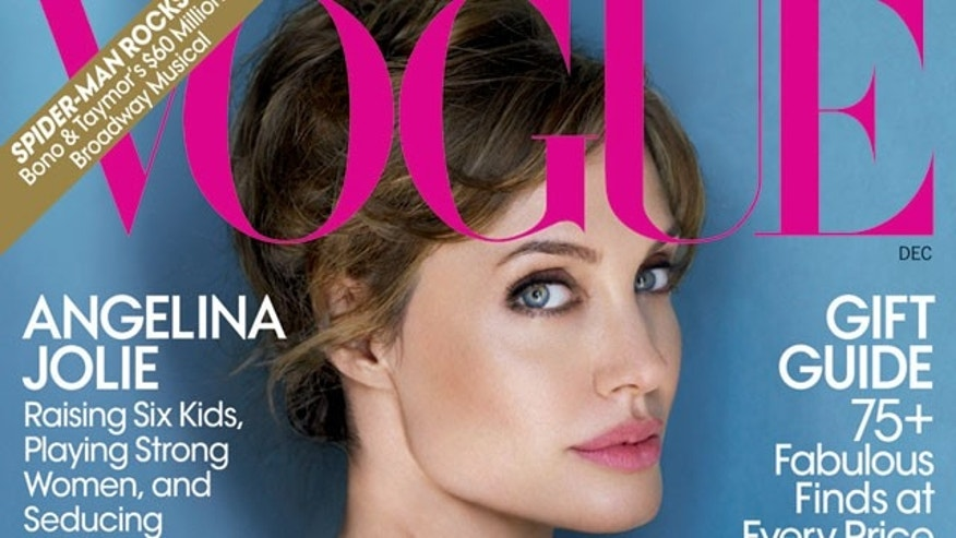 Angelina Jolie on the Decemeber 2010 cover of Vogue.