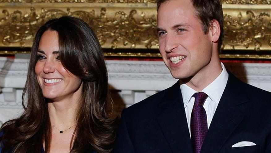 Nov. 16: Britain's Prince William and his fiancee Kate Middleton pose for the media at St. James's Palace in London.