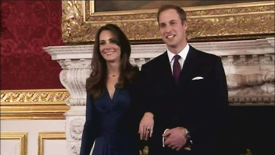 Nov. 16: Kate Middleton and Prince William at a press conference about their engagement.