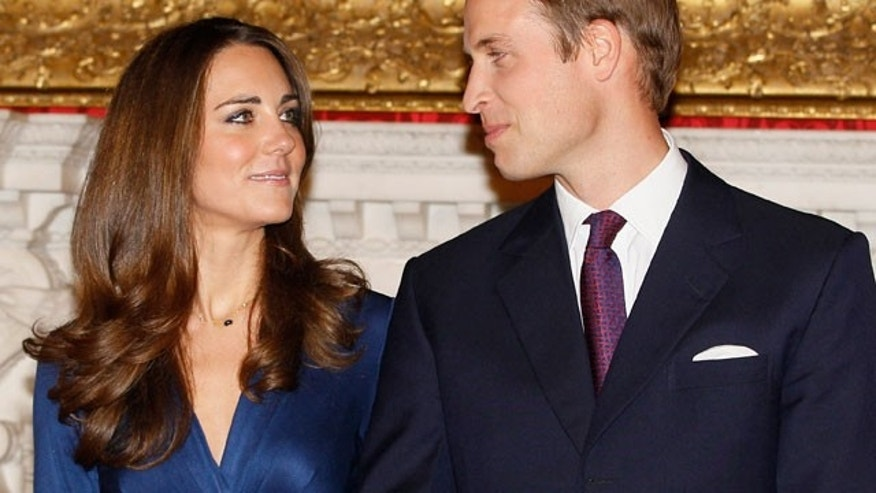 Nov. 16: Kate Middleton and her fiance Prince William at a press conference discussing their engagement.