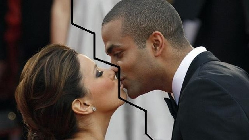 Eva Longoria and Tony Parker. (Reuters)