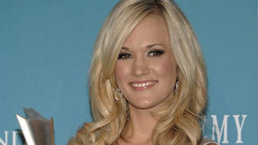April 18: Singer Carrie Underwood at the 45th Academy of Country Music Awards in Las Vegas.