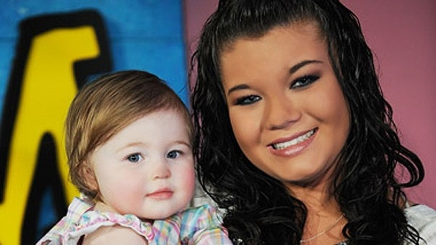 'Teen Mom' Star Amber Portwood and daughter Leah at the MTV reality series finale.