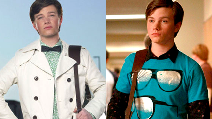 Chris Colfer plays the fashionable Kurt on 'Glee.' (FOX)