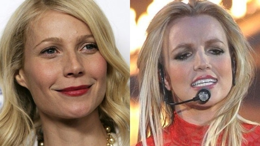 Gwyneth Paltrow (left) and Britney Spears