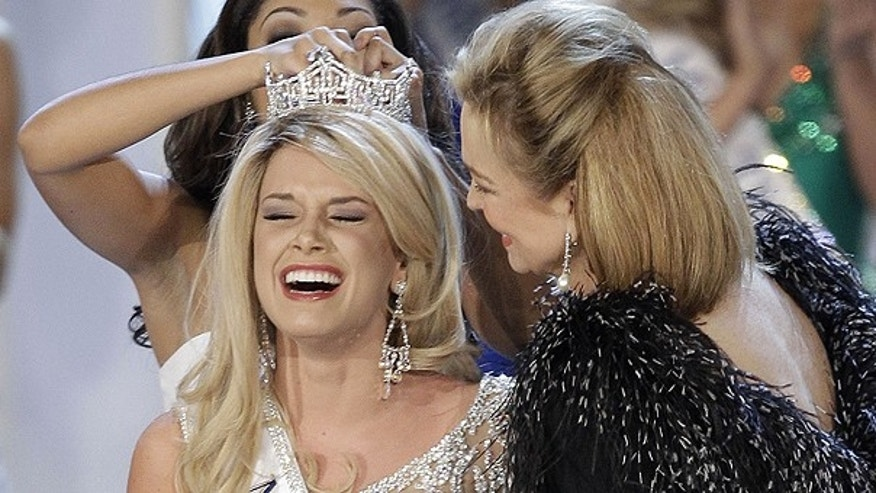 Jan. 15: Teresa Scanlan, Miss Nebraska, is crowned Miss America 2011 during the Miss America pageant in Las Vegas.