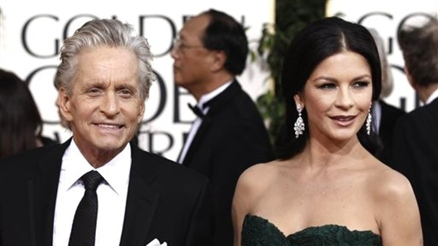 Michael Douglas and Catherine Zeta Jones. (AP)