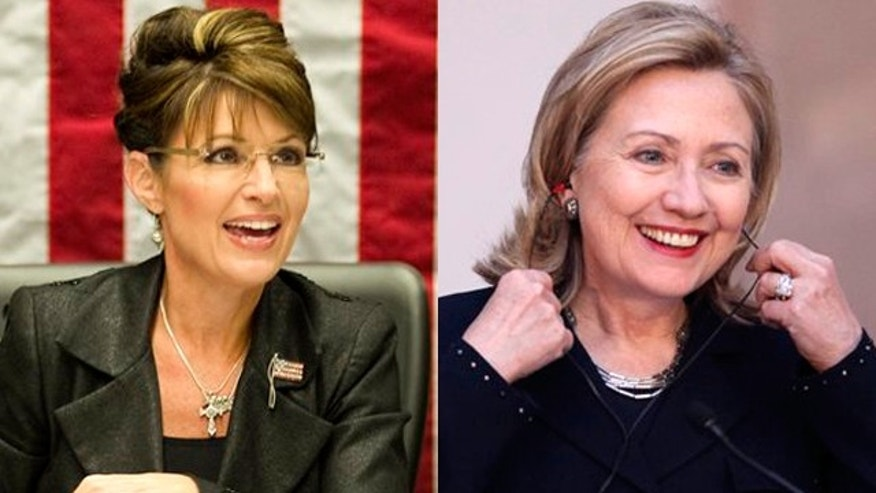 Sarah Palin and Hillary Clinton. (AP)