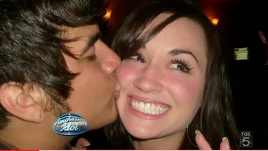 """Idol"" hopeful Chris Medina and his fiancee Juliana Ramos before an accident left her brain-damaged. (Fox)"