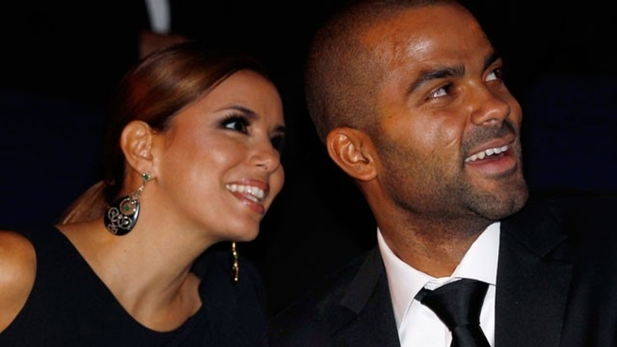 Eva Longoria and her ex-husband Tony Parker. (AP)