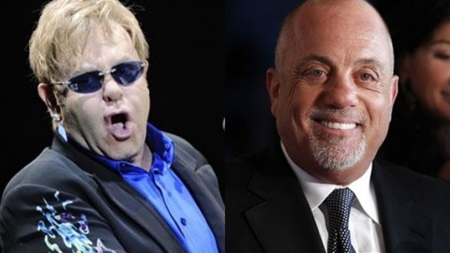 Elton John says his friend Billy Joel is an alcoholic and needs to go to rehab. (AP)