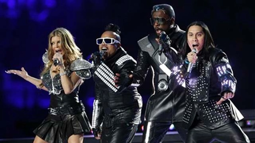 The Black Eyed Peas at the Super Bowl. (AP)