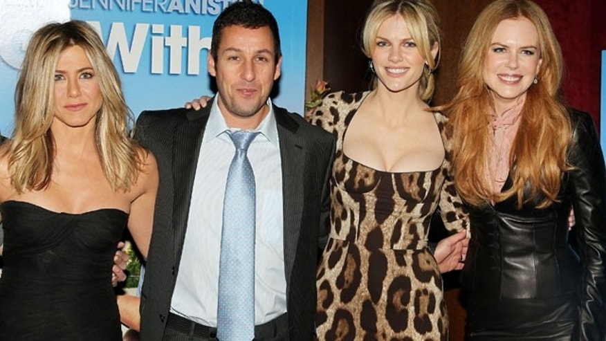 Feb. 8: Jen Aniston, Adam Sandler, Brooklyn Decker and Nicole Kidman at the premiere of 'Just Go With It' (AP).