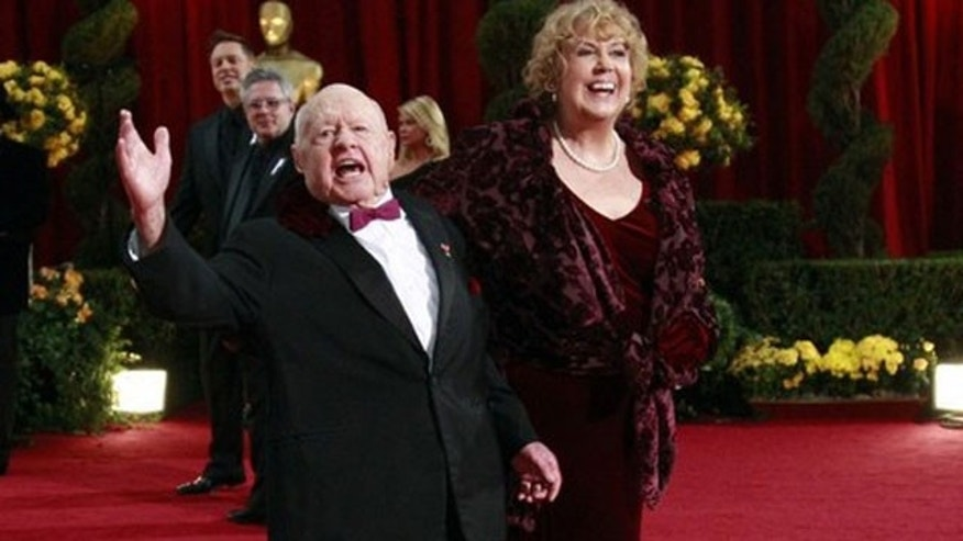 Feb. 22: Actor Mickey Rooney and his wife, Jan. , arrive at the 81st Academy Awards in Hollywood, California.