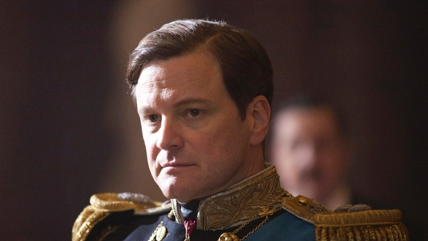 "In this film publicity image released by The Weinstein Company, Colin Firth portrays King George VI in ""The King's Speech."""