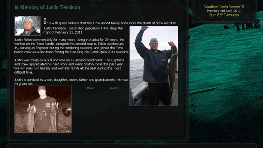 Justin Tennison remembered on the Time Bandit website. (Timebandit.tv)