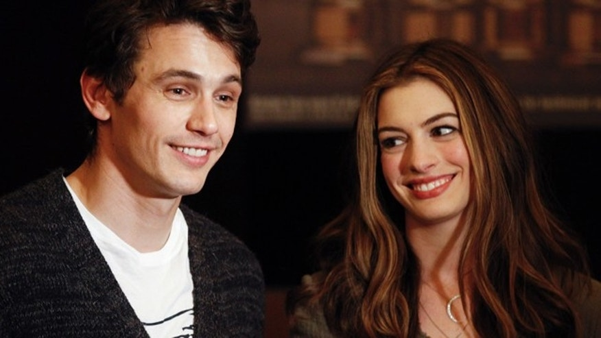 At 28, Anne Hathaway (pictured with co-host James Franco) is the youngest host of the Academy Awards.