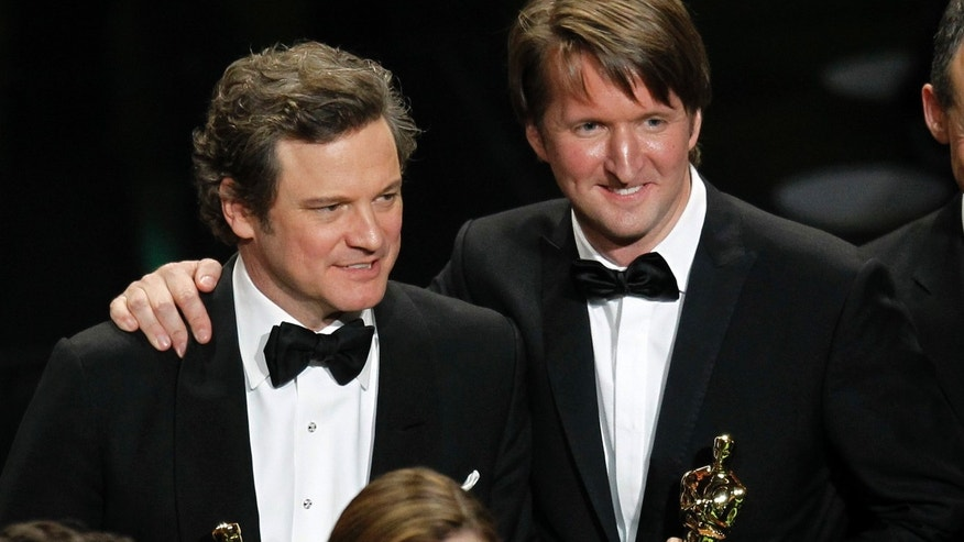Colin Firth and Tom Hooper. (Reuters)