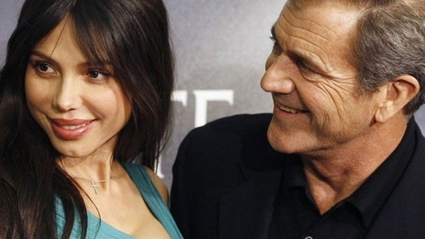 Oksana Grigorieva and Mel Gibson in happier times in 2009.