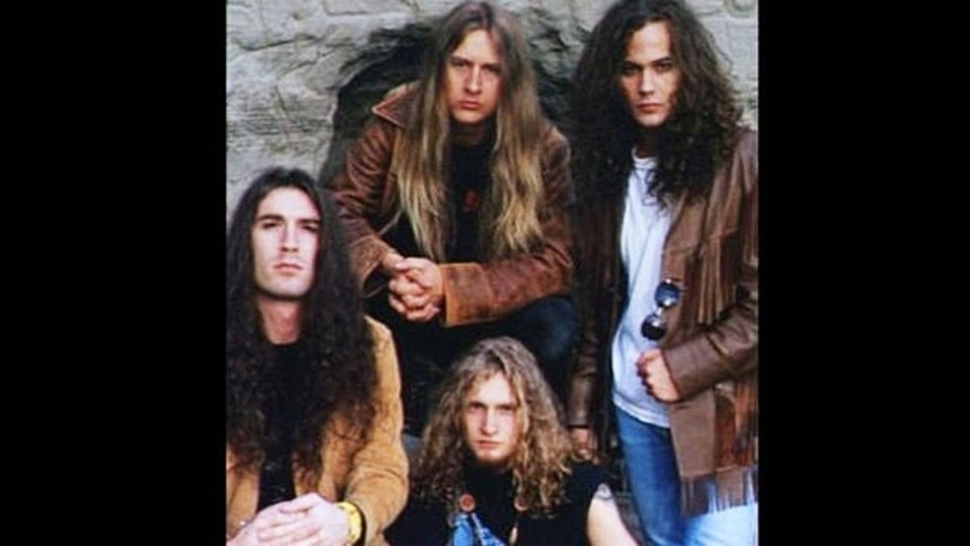 Alice in Chains bassist Mike Starr, far left, was found dead in Salt Lake City at the age of 44 Tuesday. (AP)